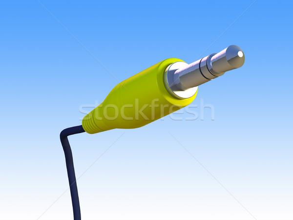 аудио стандартный кабеля градиент cg иллюстрация Сток-фото © Andreus
