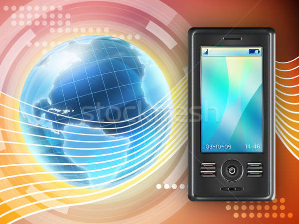 Mobiele communicatie mobiele telefoon tool digitale illustratie Stockfoto © Andreus