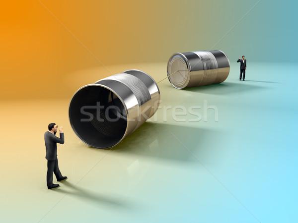 Tin can phone Stock photo © Andreus