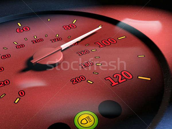 Limite de velocidade acelerar ilustração digital luz fundo azul Foto stock © Andreus