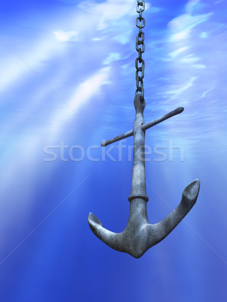 Underwater anchor Stock photo © Andreus