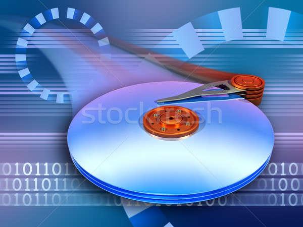 скорости Дать данные быстро Цифровая иллюстрация Сток-фото © Andreus