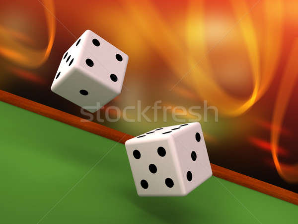 Dices rolling Stock photo © Andreus