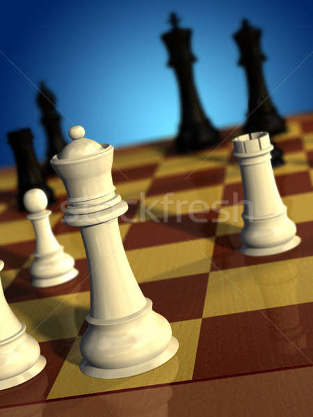 Scacchi gioco bianco regina nero Foto d'archivio © Andreus