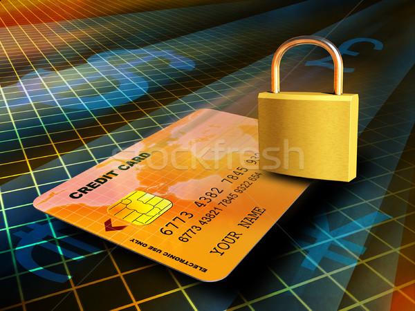 Online Transaktion Kreditkarte sicher Verbindung Stock foto © Andreus