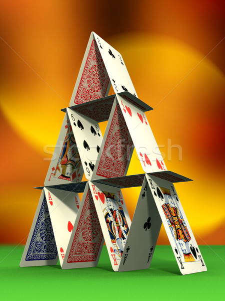Card castle Stock photo © Andreus