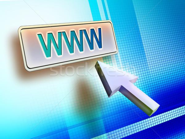 Webボタン インターネット マウス ワールド·ワイド·ウェブ ボタン ストックフォト © Andreus