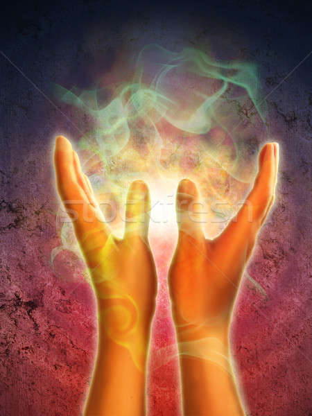 Stock photo: Hands energy
