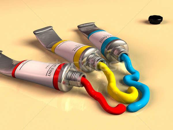 Paint tubes Stock photo © Andreus
