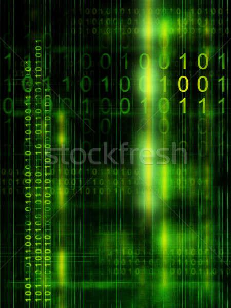 Código binario ilustración digital fondo espacio red Foto stock © Andreus