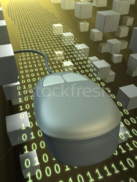 информации шоссе мыши двоичный данные Сток-фото © Andreus