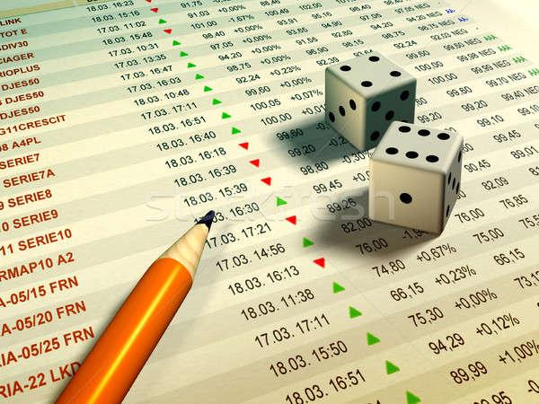 Stock relazione matita illustrazione digitale mercato dadi Foto d'archivio © Andreus