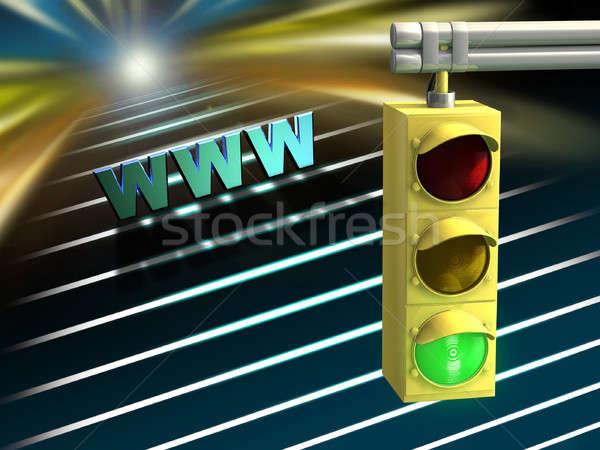 Internet autópálya jelzőlámpa digitális illusztráció fény világ Stock fotó © Andreus