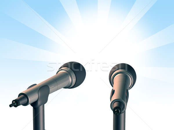 Two microphones Stock photo © Andreus