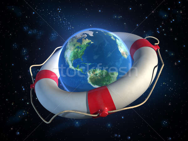 Saving planet Earth Stock photo © Andreus