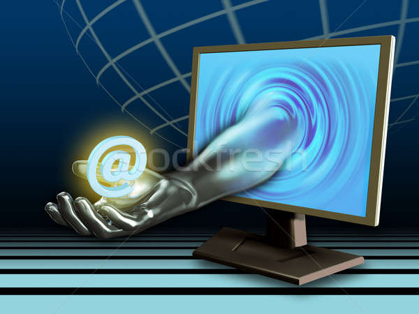 электронная почта службе стороны символ Цифровая иллюстрация Сток-фото © Andreus