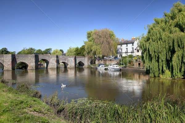 реке лет праздник Англии деревне туристических Сток-фото © andrewroland