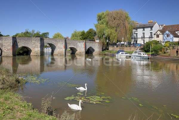 Nehir yaz tatil İngiltere köy turist Stok fotoğraf © andrewroland