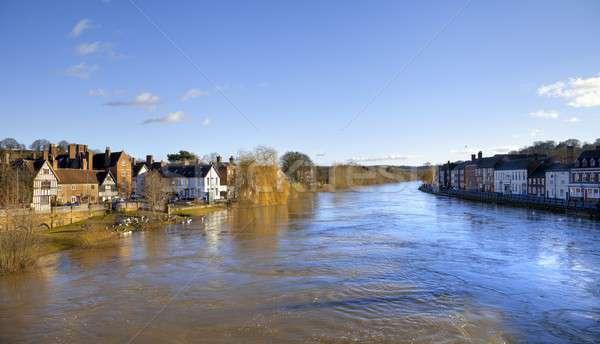 Сток-фото: Англии · высокий · воды · реке · архитектура · Европа