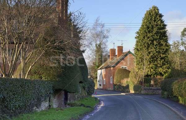 деревне домой коттедж английский Великобритания европейский Сток-фото © andrewroland