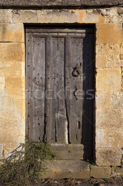 Old Cotswold door Stock photo © andrewroland