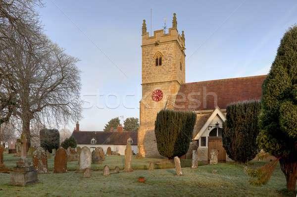 Warwickshire stone church Stock photo © andrewroland