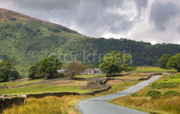 çiftlik göller bölgesi park taş tatil İngiltere Stok fotoğraf © andrewroland