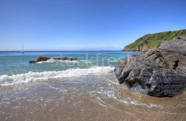 Cornwall coastline, England Stock photo © andrewroland