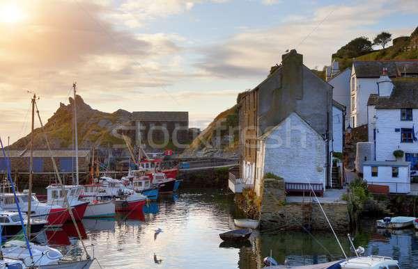 Balık tutma köy cornwall İngiltere balık Stok fotoğraf © andrewroland