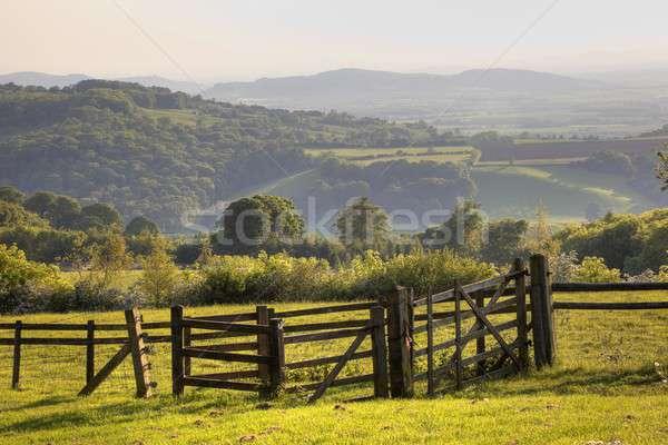 пейзаж глядя красивой закат Англии Сток-фото © andrewroland