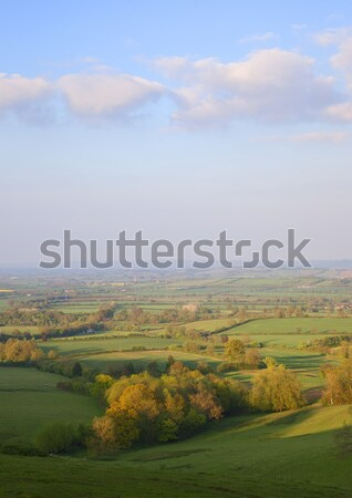 Campagne Angleterre printemps ciel arbre nuages Photo stock © andrewroland