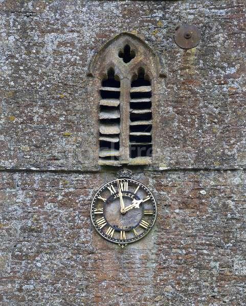 Village church clock Stock photo © andrewroland