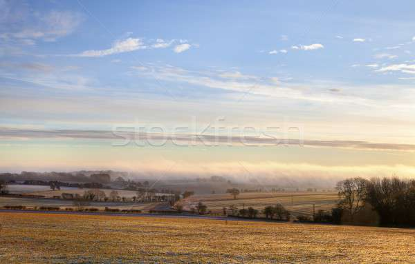 Vue broadway colline froid matin soleil Photo stock © andrewroland