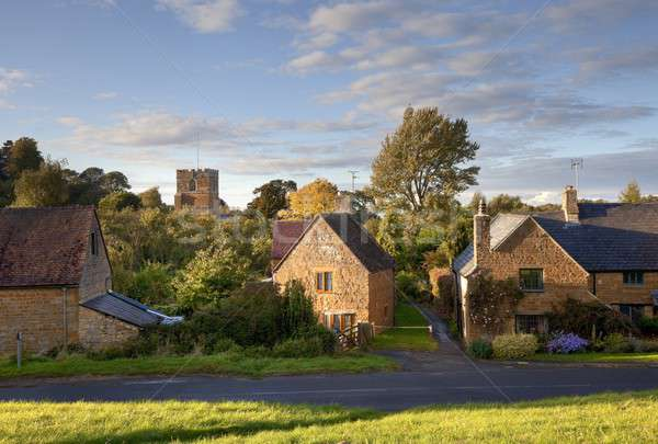 Warwickshire village at sunset Stock photo © andrewroland