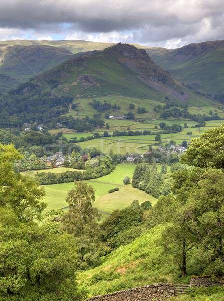 лет гор Англии полях долины Сток-фото © andrewroland