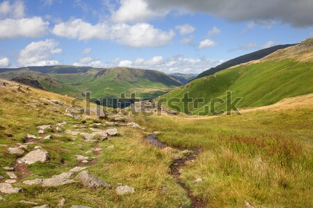 Montagnes lake district marche vacances randonnée escalade Photo stock © andrewroland
