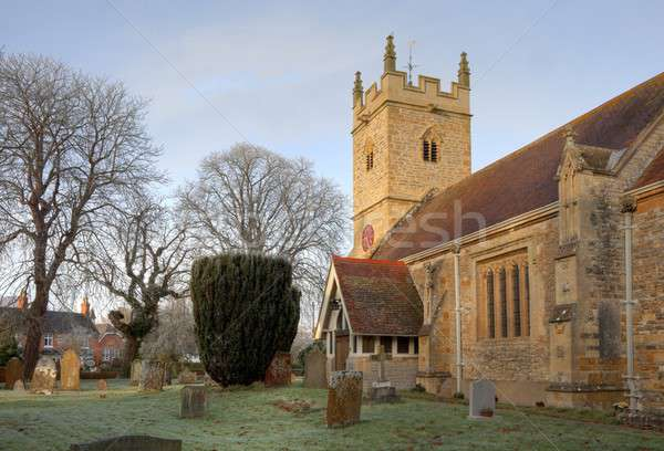 Warwickshire stone church Stock photo © andrewroland