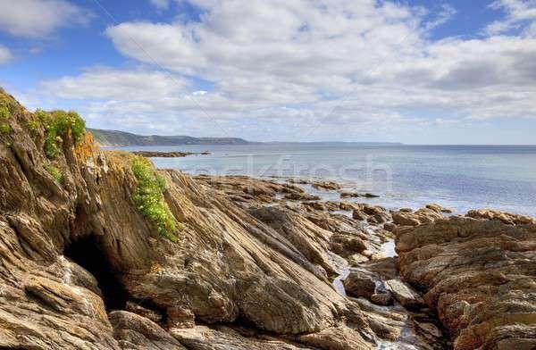 пляж мнение Корнуолл Англии пейзаж морем Сток-фото © andrewroland