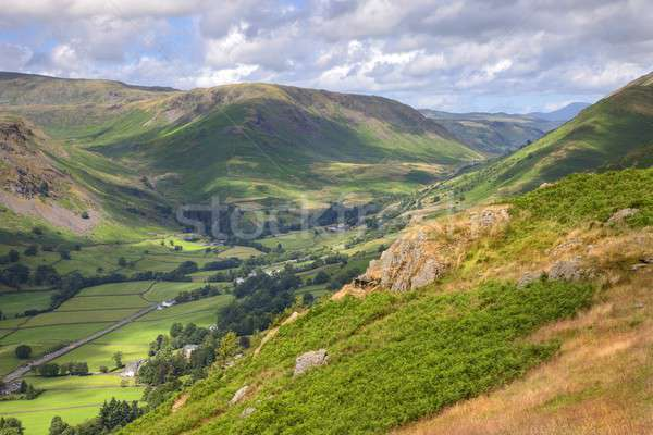 Vue regarder lake district été montagnes Angleterre Photo stock © andrewroland