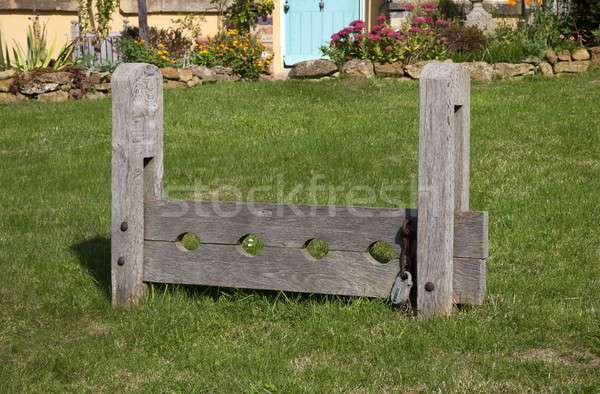Village Stocks, England Stock photo © andrewroland
