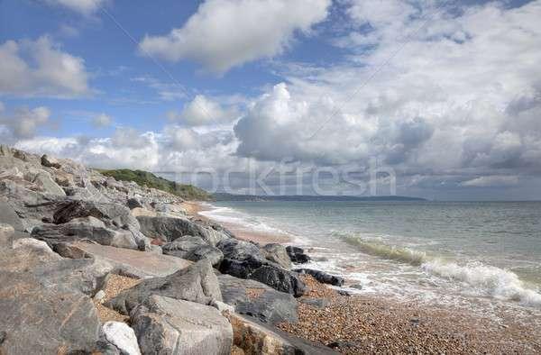 лет пляж солнце волны Blue Sky Сток-фото © andrewroland
