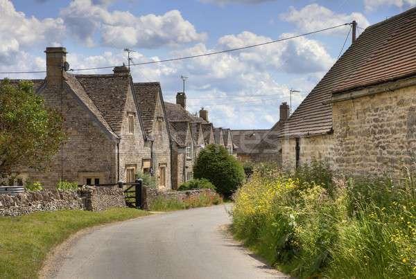 Cotswold village of Hazelton Stock photo © andrewroland