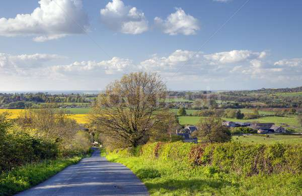 Rural Angleterre regarder faible village marche Photo stock © andrewroland