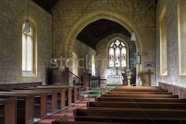 English church interior, stanway Stock photo © andrewroland