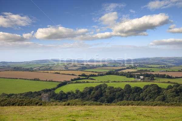 Panorama bella cornwall estate Inghilterra nubi Foto d'archivio © andrewroland