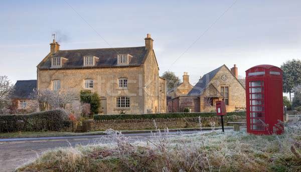 Cotswold village in winter Stock photo © andrewroland