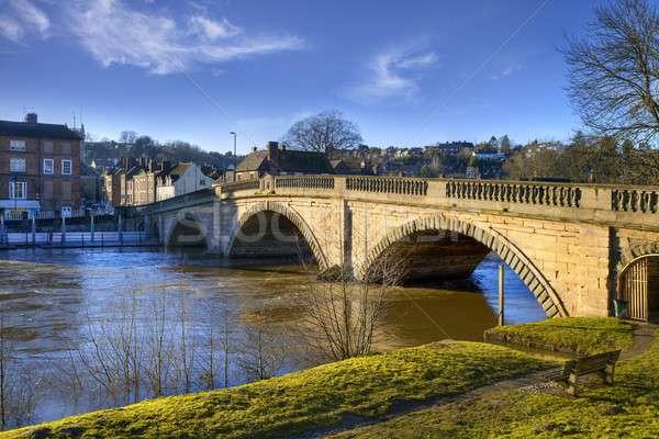 Англии старые моста реке архитектура Европа Сток-фото © andrewroland