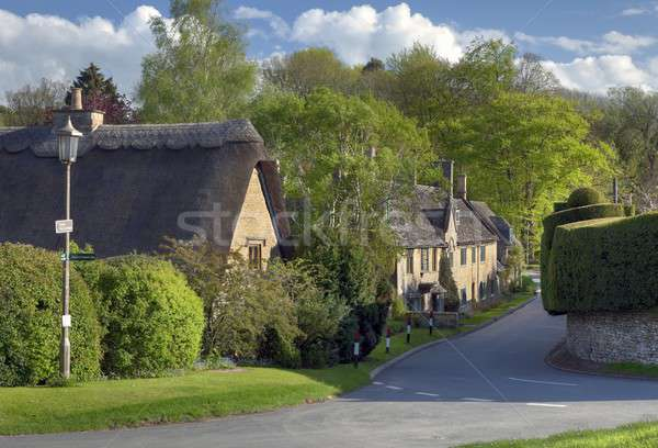 Village printemps vacances tourisme anglais Photo stock © andrewroland