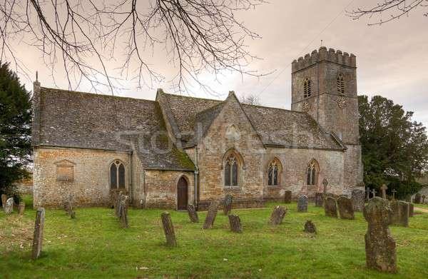 English stone church Stock photo © andrewroland