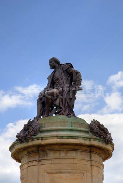 Statue of William Shakespeare with space for copy Stock photo © andrewroland